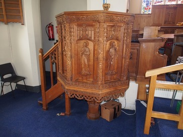 Carved Oak Pulpit